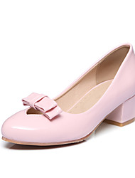 Women's Loafers & Slip-Ons Spring Summer Fall Comfort PU Office & Career Dress Casual Chunky Heel Bowknot