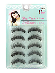 Eyelashes lash Full Strip Lashes Eyes Crisscross Handmade Fiber Black Band 0.12mm 7mm