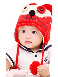 Girl's Knitting Cute Winter Going out/Casual/Daily Keep Warm Cartoon Patchwork Headgear Baby Hat Children Cap