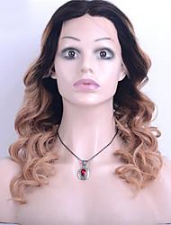 ombre T1b / cor loira brasileira virgem do cabelo peruca dianteira do laço da onda solta 130% de densidade peruca do laço do cabelo virgem