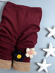 Girl Casual/Daily Solid Pants-Cotton Winterwithout any accessory