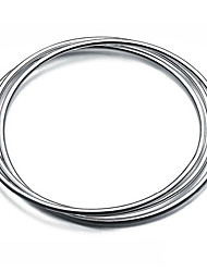 Women's Bangles Fashion Sterling Silver Circle Jewelry Jewelry For Birthday Gift