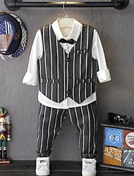 Boy Going out Formal Party/Cocktail Striped Sets,Cotton Spring Fall Long Sleeve Clothing Set