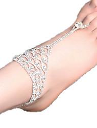 женские говорят горный хрусталь ножной ювелирные изделия 1шт