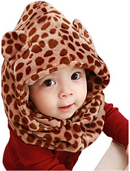 Boys And Girls Cashmere Winter Going out/Casual/Daily Keep Warm Leopard Print Hat Cloak Children Cap