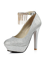 Women's Heels Spring / Summer / Fall Platform / Shoes & Matching Bags Synthetic / Glitter Wedding / Party & Evening / Casual Stiletto Heel