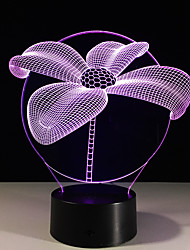 1PC Lotus Colorful Vision Stereo Led Lamp 3D Lamp Light Colorful Gradient Acrylic Lamp Night Light Vision