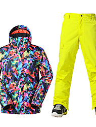 Sports Ski Wear Ski/Snowboard Jackets Men's Winter Wear Polyester Winter ClothingWaterproof Breathable Thermal / Warm Windproof Fleece