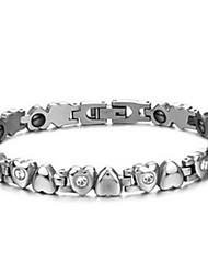 Women's Chain Bracelet Steel Heart Jewelry Silver Jewelry 1pc