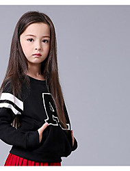 Girl Casual/Daily Solid Hoodie & Sweatshirt,Cotton Winter Fall