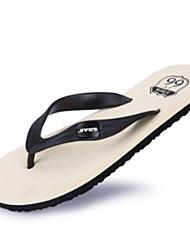Men's Slippers & Flip-Flops Summer Comfort PU Outdoor Casual Flat Heel Black Green Red Walking