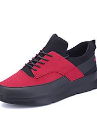 Femme-Extérieure Décontracté Sport-Noir Rouge Noir et blanc-Talon Plat-Confort-Chaussures d'Athlétisme-Matières Personnalisées