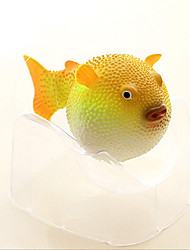 Aquarium Decoration Artificial Fish Balloonfish Resin Green Blue Orange