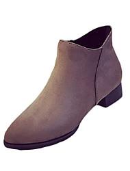 Women's Boots Fall Winter Other PU Casual Low Heel Zipper Black Coffee