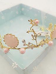 Women's Crystal Brass Cubic Zirconia Headpiece-Wedding Special Occasion Casual Tiaras 1 Piece