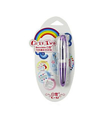 Caneta Caneta Canetas Caneta,Plástico Barril Púrpura cores de tinta For material escolar Material de escritório Pack of