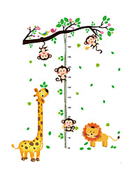 Wall Stickers Wall Decals Style Monkeys Measure Your Height PVC Wall Stickers