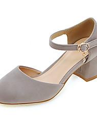 Damen-High Heels-Büro Kleid Lässig-Vlies-Blockabsatz-Andere-Schwarz Rosa Grau Light Purple