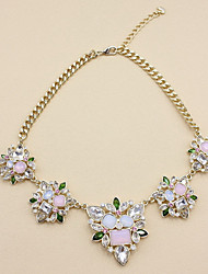 Women's Statement Necklaces Flower Alloy Flower Style Statement Jewelry European Jewelry For Daily Casual