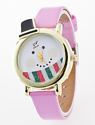 Men's / Women's / Kids' Wrist watch Quartz / PU Band Cartoon / Casual Black / White / Red / Brown / Green / Pink / Rose Brand