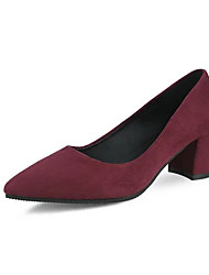 Women's Heels Spring Comfort PU Wedding Outdoor Office & Career Dress Casual Party & Evening Chunky Heel Black Gray Burgundy