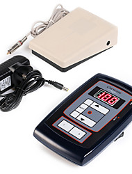 Solong tattoo New LCD Digital Tattoo Power Supply Foot Pedal  Clip Cord Kit P164
