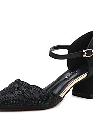 Women's Heels Spring Summer Other Synthetic Wedding Office & Career Dress Low Heel Sparkling Glitter Black Gold Other