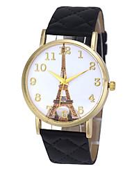 Masculino Mulheres Casal Unissex Relógio de Moda Relógio de Pulso Quartzo Punk Colorido Mostrador Grande PU BandaVintage Desenhos
