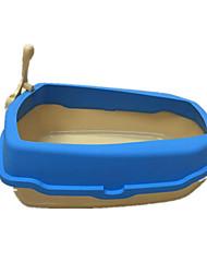 Кошка Чистка Ванночки Компактность Синий