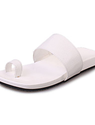 Women's Slippers & Flip-Flops Spring Summer Fall Comfort PU Casual Low Heel Others Black White Other