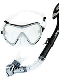 Diving Masks Diving Packages Snorkels Swim Mask Goggle Snorkel Set Dry Top Diving / Snorkeling Swimming PVC Glass siliconeRed Purple