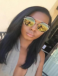 Silk Base Lace Front Wig Picture Wavy Style Brazilian virgin Human Hair For African American Women