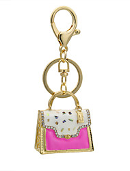 Fashion handbag Keychain diamond metal keychain bags ornaments