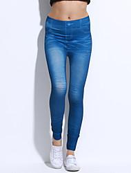 Damen Jeans Legging,Elasthan Nylon