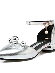 Women's Sandals Spring Summer Fall PU Outdoor Office & Career Casual Low Heel Pearl Gold Silver Blushing Pink