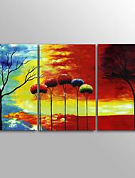 canvas Set Impressão em tela sem moldura Abstrato Moderno,3 Painéis Tela Horizontal Impressão artística Decoração de Parede For Decoração