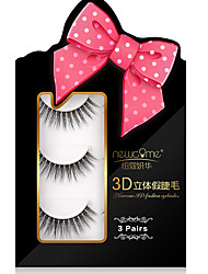 3D Eyelashes lash Full Strip Lashes Eyes Crisscross Natural Long Handmade Fiber Transparent Band