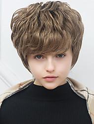 Comfortable  Short   Natural Wave Human Hair  Capless Wigs