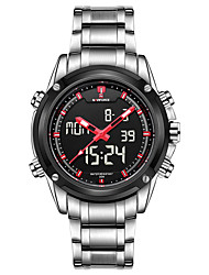 Men Multifunctional Black Steel Outdoor Sports Watch