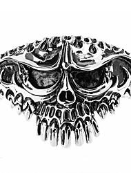 Armbänder Armreife Edelstahl Totenkopfform Punkstil individualisiert Rock Party Alltag Normal Schmuck Geschenk Silber,1 Stück