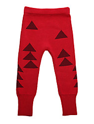 Unisex Going out Casual/Daily Sports Solid Color Block Geometric Pants-Cotton Knitwear Winter Fall