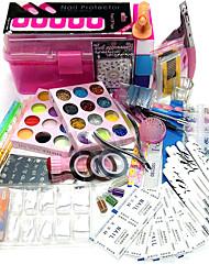 la quantité d'emballage kit ongles nail art décoration nail art style type 23sets diy