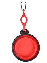 Chat Chien Bols & Bouteilles d'eau Animaux de Compagnie Bols & alimentation Portable Pliable Rouge Bleu Jaune Silicone