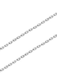 Women's Chain Necklaces Jewelry Single Strand Sterling Silver Basic Silver Jewelry For Birthday Daily Casual 1pc