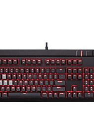 Mechanical keyboard Gaming keyboard Ergonomic keyboard USB Red axis Monochromatic backlit