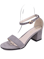 Femme Chaussures à Talons Polyuréthane Printemps Eté Décontracté Talon Aiguille Noir Beige Gris clair Rose 5 à 7 cm