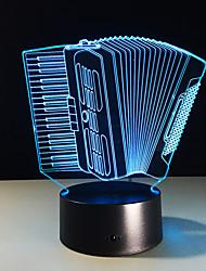 1pc acordeão estéreo colorido visão levou lâmpada de luz da lâmpada 3d colorido gradiente de acrílico visão lâmpada noite