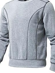 Sweatshirt Hommes Décontracté / Quotidien Couleur Pleine Col Arrondi Non Elastique Coton Manches Longues Printemps Automne