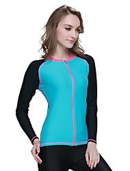 Mulheres 1mm Mergulho Skins Jacket wetsuit Impermeável Resistente Raios Ultravioleta Filtro Solar ConfortávelElastano Náilon Chinês