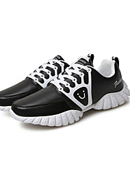 Men's Athletic Shoes Fall Other Other Animal Skin Outdoor Low Heel Lace-up Black Red White Walking